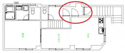 図面 玄関 間取り変更 賃貸物件 リフォーム マンション 神戸市 トラブラン