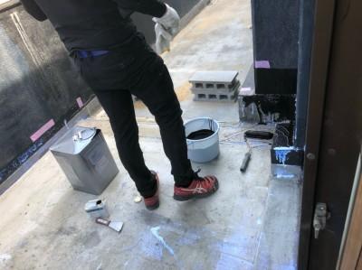 ベランダ 防水塗装 下地塗装 神戸市 トラブラン 防水