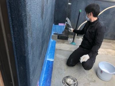 ベランダ 防水塗装 プライマー塗装 神戸市 トラブラン 防水