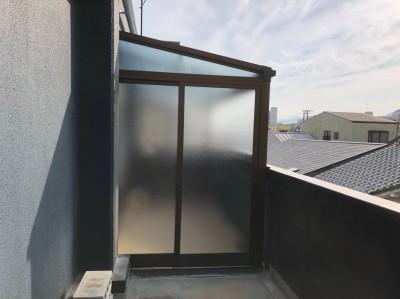 ベランダ 浴室 ガラス戸 ベランダ改装工事 神戸市 トラブラン