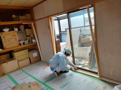 マンション 内装工事 リフォーム 桟 作業中 神戸市 トラブラン