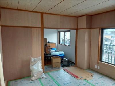マンション 内装工事 リフォーム 作業中 神戸市 トラブラン