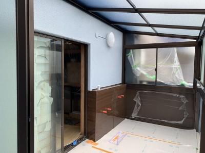 浴室壁の塗装 パネル 浴室 改装 神戸市 トラブラン