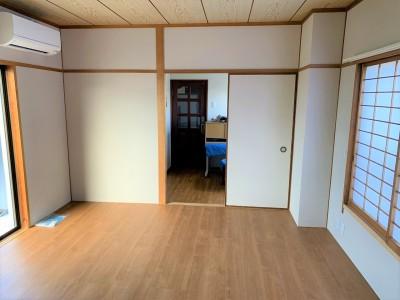 洋室 フローリング張替え リフォーム マンション 神戸市 トラブラン