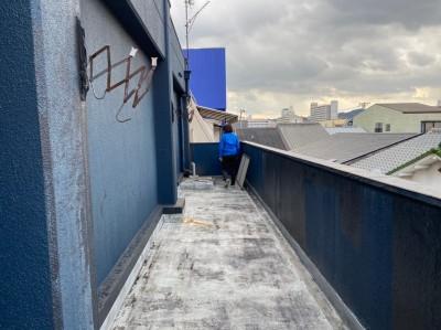 マンション ベランダ 現場調査 防水 オーダー 神戸市 トラブラン
