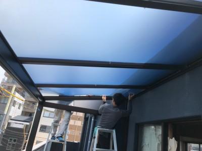 ポリカーボネート ベランダ 屋根の設置 サンルーフ 神戸市 トラブラン 浴室