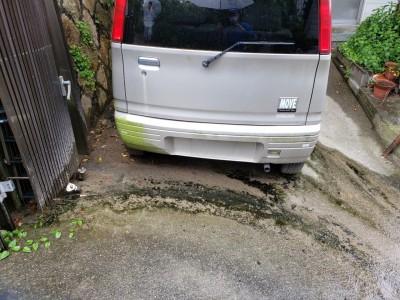 現場調査 塀 水漏れ 藻 コンクリート桝 交換工事 神戸市 トラブラン