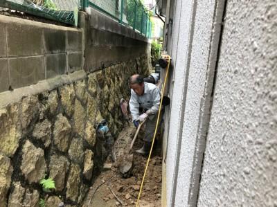 コンクリート桝 掘削作業 交換工事 須磨区 トラブラン