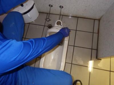 和式トイレ トイレ 取り外し 施工前 掃除 TOTO トラブラン