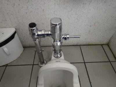 交換後 新部材 フラッシュバルブ 和式トイレ 修理 神戸市 トラブラン