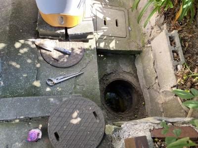 コンクリート桝 雨水 水漏れ 交換工事 神戸市 トラブラン