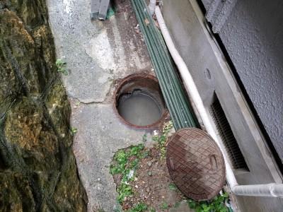 コンクリート桝 詰まり 水漏れ 交換工事 神戸市 トラブラン
