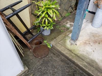 現場調査 水漏れ コンクリート桝 交換工事 神戸市 トラブラン