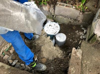 排水桝 雨水桝 交換工事 埋戻し 神戸市 トラブラン