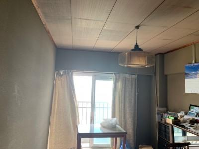 現調 ビフォー 和室 壁紙 天井 リフォーム 神戸市 トラブラン