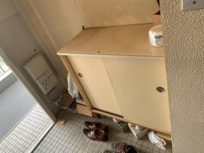現調 玄関 ビフォー リフォーム マンション 神戸市 トラブラン