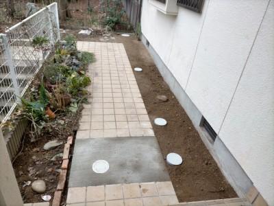 工事完了 排水桝 塩ビ桝 交換 住宅 庭 神戸市 トラブラン