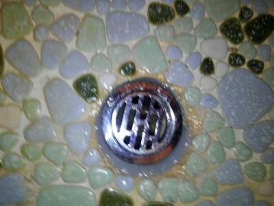 浴室 床 タイル 排水口 劣化 ワントラップ 取付け 神戸市 トラブラン