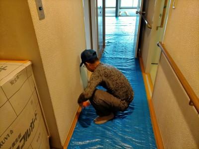 マンション 養生 工事 シート 廊下 保護 神戸市 トラブラン