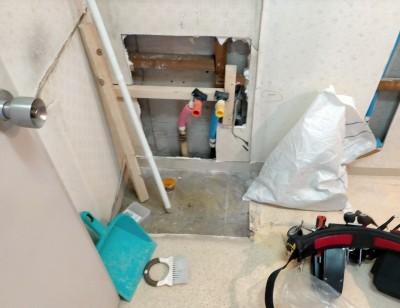 工事 給水管 配管工事 水廻り 水 お湯 神戸市 トラブラン
