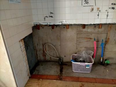 水道工事 配管 ガス管 給水管 タイル 水廻り リフォーム リノベーション 神戸市 トラブラン
