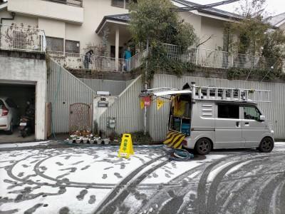 桝詰まり 高圧洗浄作業 高圧洗浄車 詰まり解消 神戸市 トラブラン