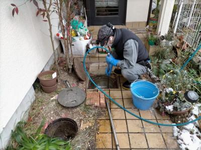 事前調査 工事 コンクリート桝 排水桝 住宅 神戸市 トラブラン