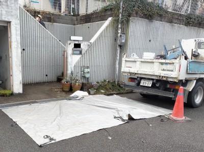 養生 シート 保護 住宅 排水桝 交換 工事 神戸市 トラブラン