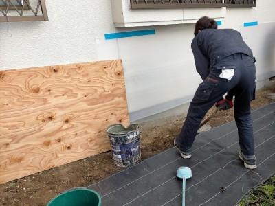 工事 交換 コンクリート桝 掘削 土 掘る 住宅 排水桝 神戸市 トラブラン