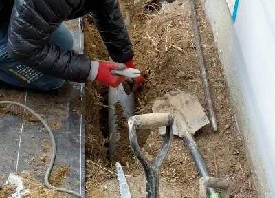 掘削 木の根 施工 工事 住宅 神戸市 トラブラン