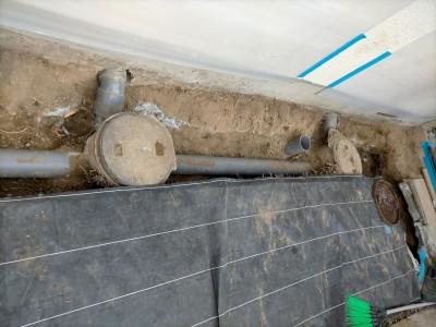 掘削完了 桝の交換工事 4ヶ所 取替え 神戸市 トラブラン
