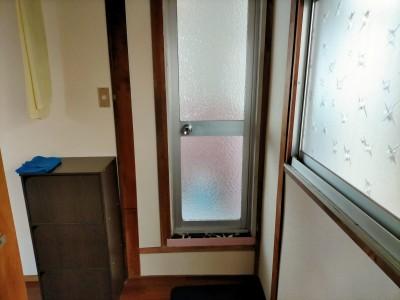 浴室扉 バスルーム 施工前 現場調査 神戸市 トラブラン