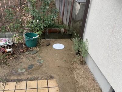 埋戻し 工事完了 排水桝 塩ビ桝 住宅 埋房し仕上げ 神戸市 トラブラン