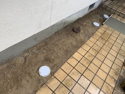 プラスチック桝 塩ビ桝 交換 工事 埋房し 住宅 神戸市 トラブラン