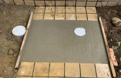 モルタル仕上げ 工事完了 排水桝 塩ビ桝 コンクリート 神戸市 トラブラン