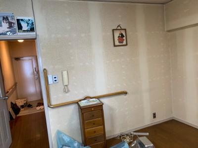 現調 ビフォー リビング 壁紙 天井 神戸市 トラブラン