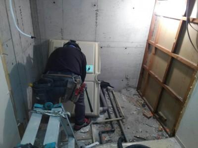 お風呂 バスルーム 解体 撤去 工事 リフォーム 浴槽 神戸市 トラブラン