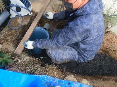 桝 高さ調整 排水マス交換工事 排水桝工事 神戸市 トラブラン
