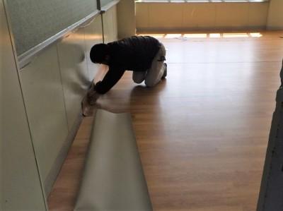シート 長尺シート 床 施設 シート貼り 神戸市 トラブラン