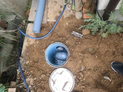 排水 排水機能確認 バケツ 桝の取替え 工事 トラブラン 神戸市