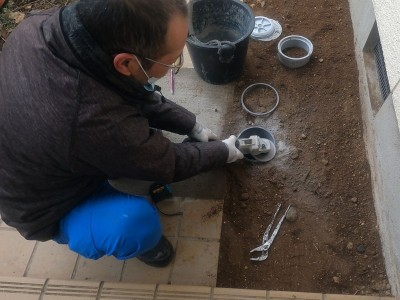 排水桝 埋房し仕上げ 配管の高さ調整 桝の交換工事 神戸市トラブラン