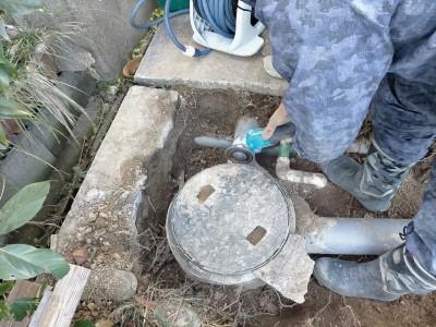 排水桝 コンクリート製 切断 パイプ ホールソー 施工 工事 神戸市 トラブラン