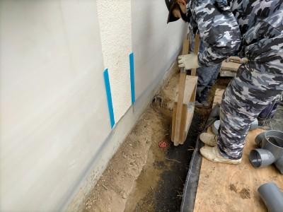 配管設置前 転圧作業 バラスを強い固める 排水桝交換 神戸市 トラブラン