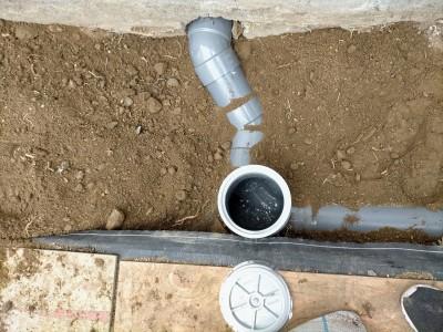 桝工事 流水確認 塩ビ桝に交換 戸建て 埋戻し 神戸市 トラブラン