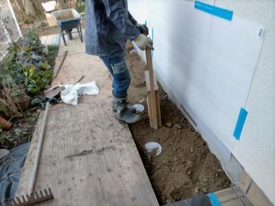 土の埋戻し作業 桝交換 桝設置後 強い固める 神戸市 トラブラン