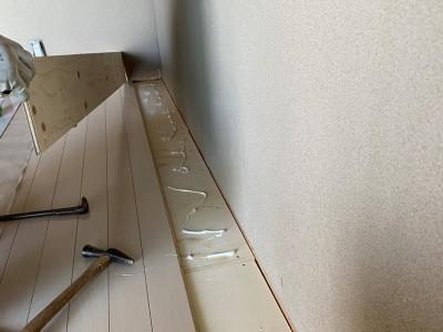 和室から洋室へ リフォーム 床の張替え 神戸市 トラブラン