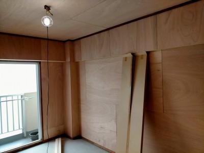 和室のリフォーム コンパネ貼り 神戸市 トラブラン