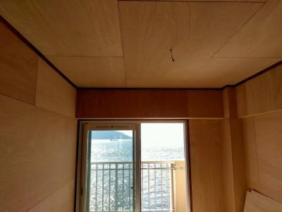 和室のリフォーム コンパネ貼り オーシャンビュー 神戸市 トラブラン
