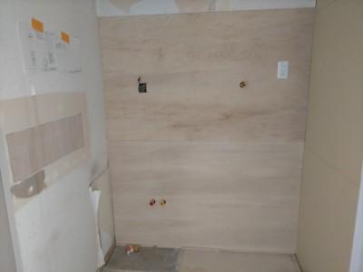 洗面所 コンセント 水廻り 壁 工事 リフォーム マンション 神戸市 トラブラン