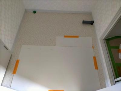 洗面所 リフォーム マンション 壁紙 クッションフロア 張替え 神戸市 トラブラン